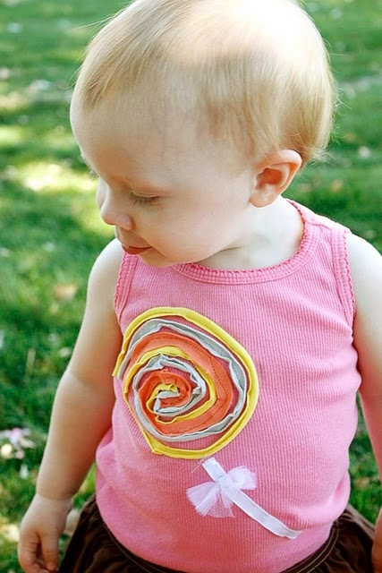 Ok, I may not do a lolly, but these would be cute circles all over a shirt
