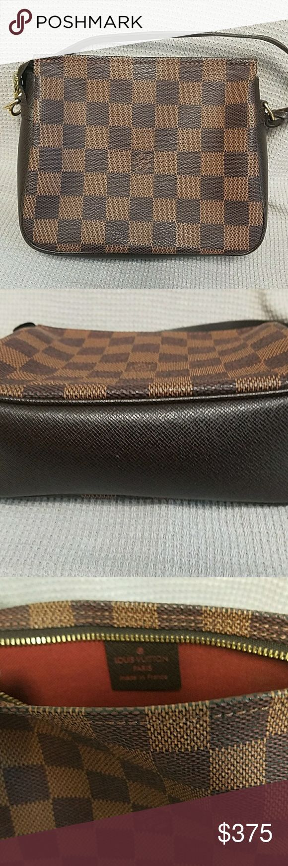 Damier Pochette Small bag gently used. It makes a great Christmas present. Louis Vuitton Bags Clutches & Wristlets