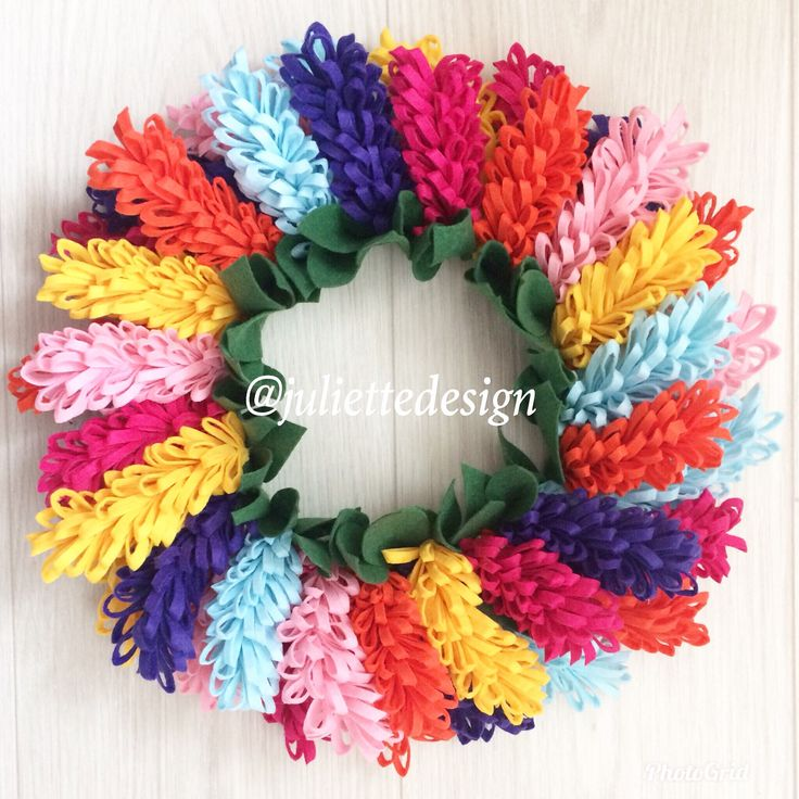 Easter Wreath, Spring Wreath, Felt Hyacinth, Felt Flowers Wreath,  Hyacinth Wreath, Summer Wreath by juliettesdesigntr on Etsy https://www.etsy.com/listing/574643974/easter-wreath-spring-wreath-felt