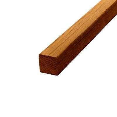 2 in. x 2 in. x 12 ft. S4S Clear Cedar Lumber
