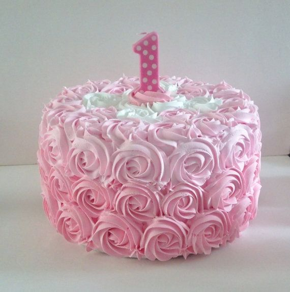Pink 1st Birthday Polka Dot Candle: 25+ Best Ideas About Number One Cake On Pinterest