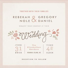 Lovely layout wedding stationery