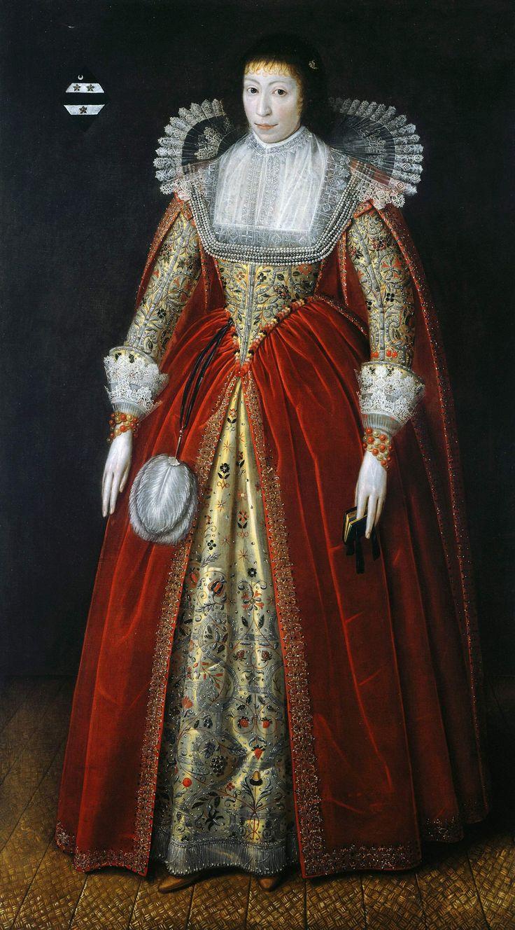 Elizabeth, Lady Style of Wateringbury, ca. 1620, unknown artist.
