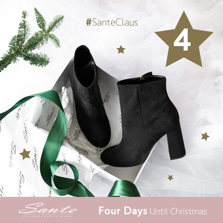 4 Days until Christmas #SanteClaus #SanteWorld #SanteFW1617 Available in stores & online (SKU-93861): www.santeshoes.com