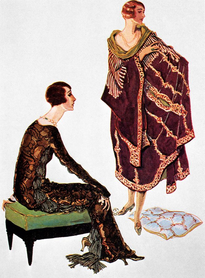 Fashion by Fortuny, illustrated for French Vogue, 1924.