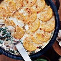 Polenta Gratin with Spinach and Wild Mushrooms - French Recipes - Delish.com