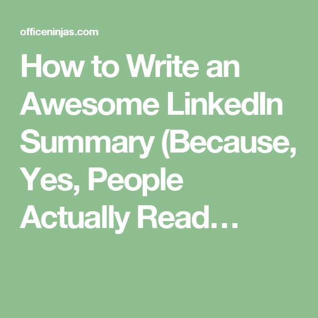 The 25+ best Linkedin summary ideas on Pinterest Job search, Job - writing resume summary