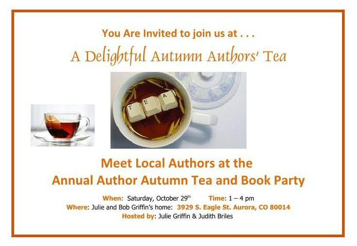 Author U Autumn Tea 2016 (a) Invitation