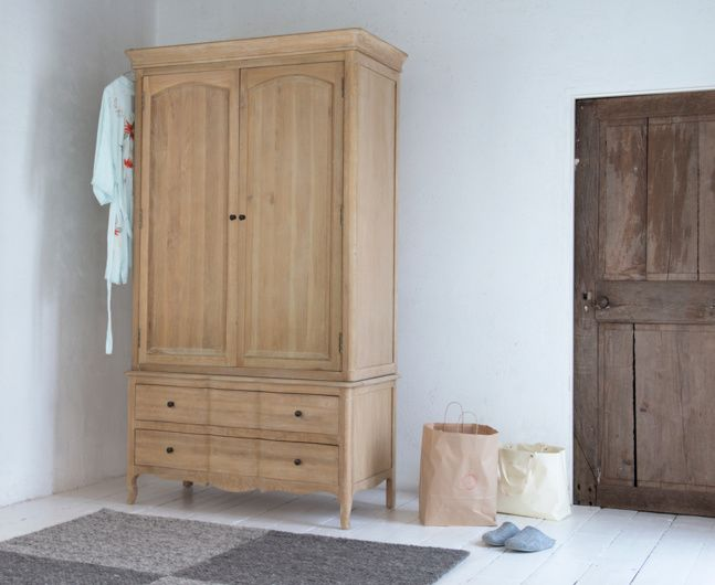 Our incredibly impressive Pascale wardrobe is insanely well made from solid oak by our skilled craftsmen who give it a lovely weathered finish.
