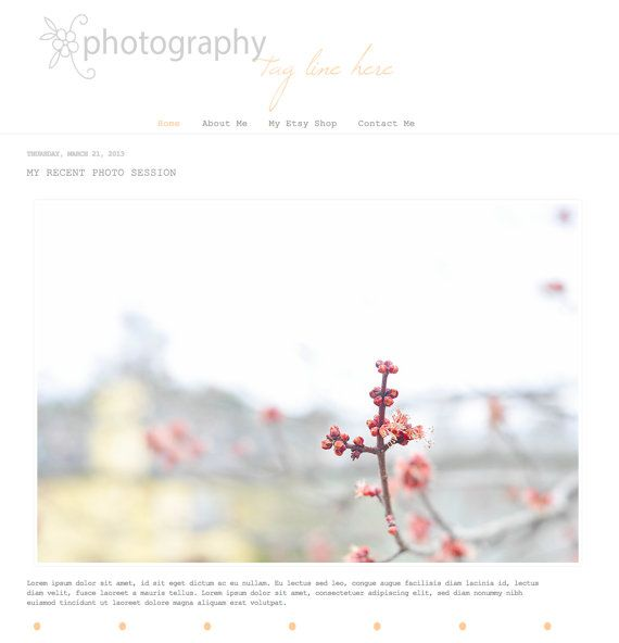 Premade Blogger Template  Photo Simplicity by JojostudiosShop