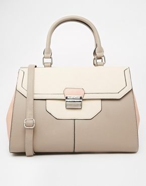 Enlarge River Island Cream/Grey Double Sided Tote