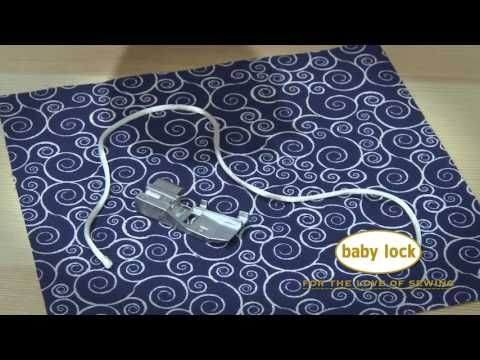 Check out the Baby Lock Serger Beading foot!! It makes adding beads to an edge, so easy!! - YouTube