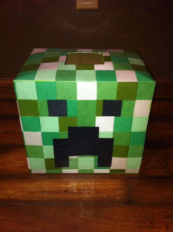 Minecraft Creeper Valentines Box. (Picture Only, No Link.)