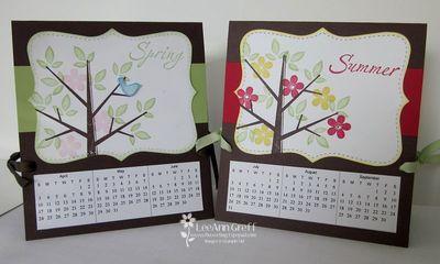 4 Season Calendar Cards