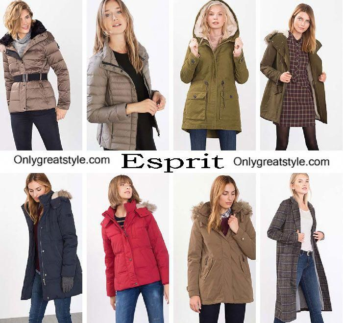 1d9e62c8f5857 Esprit down jackets fall winter 2016 2017 for women  Women scoats ...