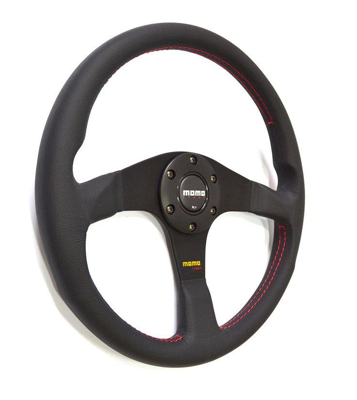 TUNER MOMO Black Leather 350mm - Steering Wheels - Defender 110 TD5, 2000…