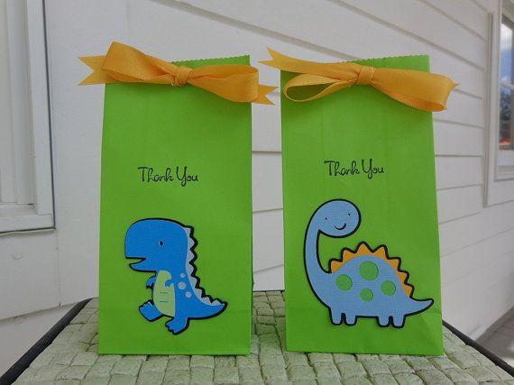 Small Dinosaur Birthday Party Treat or Favor by ThePirdieBirdie