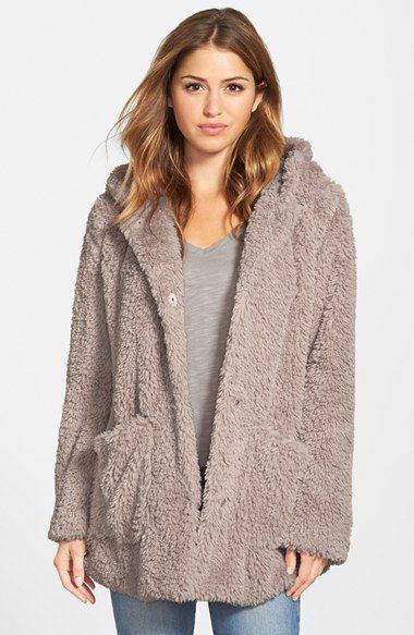 Kenneth Cole New York 'Teddy Bear' Faux Fur Hooded Coat available at #Nordstrom