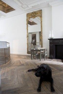 Antieke houten vloer - visgraat, Plantage | Kodde Architecten