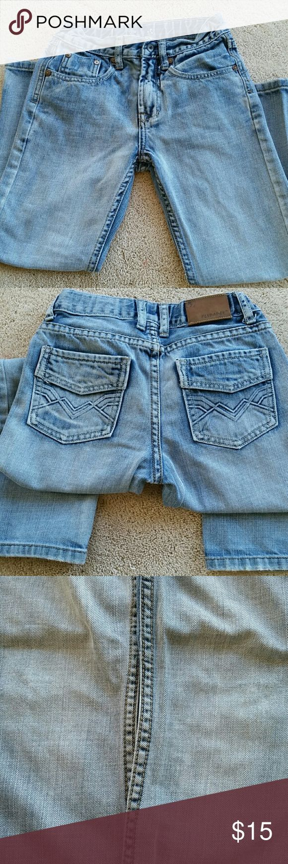 *Boys Flypaper Jeans* Super comfortable and roomy! These were my boys' favorite jeans. We had several pairs. The knees have a little bit of wear but it is not really noticeable.  30% off two or more items! Flypaper Bottoms Jeans
