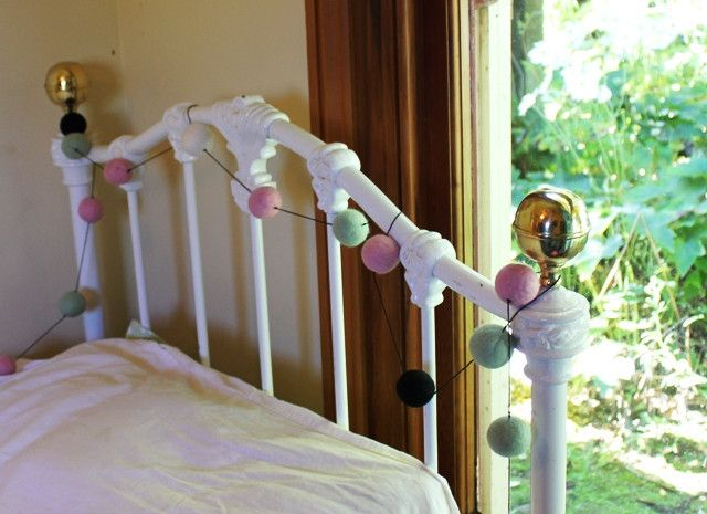 Gorgeous, handmade Felt Ball Garlands...