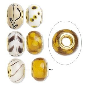 Browns and beige European style beads $3.90 each at www.beadsgalore.co.nz