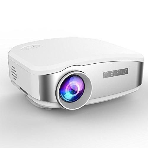 CHEERLUX Projector Mini HD LED for Home Theater Cinema Movie Night Video Tv Gaming Kids Toy MHL Ipad Iphone 6 6s Support Chromecast (White)