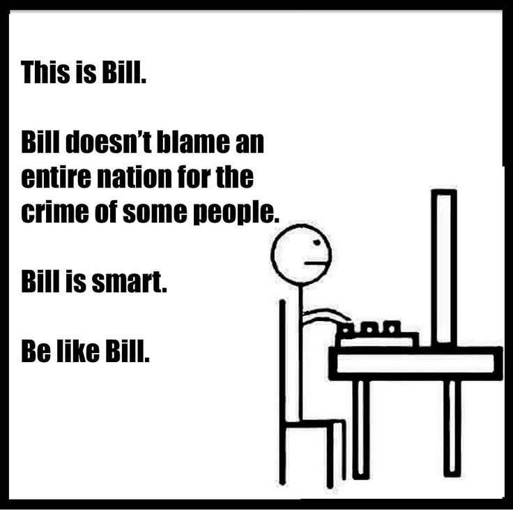 Bill tries to be logical.