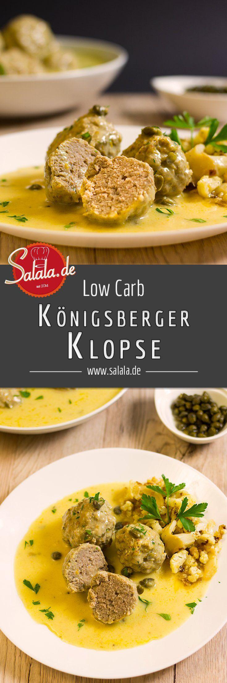 Königsberger Klopse ohne Mehl - by salala.de - low carb glutenfrei mehlfrei zuckerfrei ohne Brötchen Rezept Klassiker Deutsche Küche