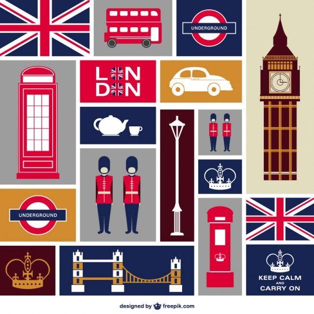 Londres graphismes plats fixés                                                                                                                                                                                 Plus