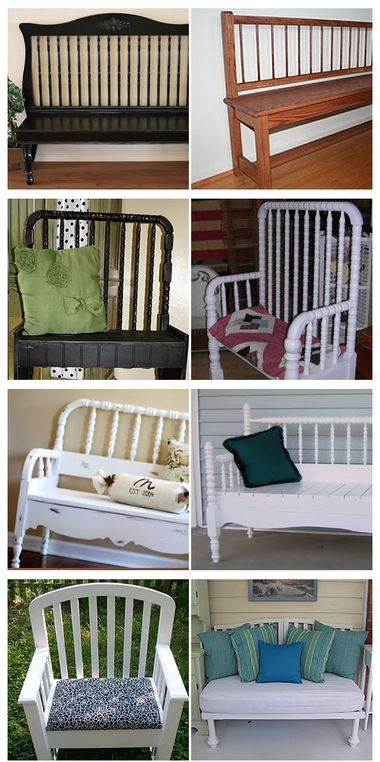 Repurposed cribs - this is why Scott needed to dumpster dive for the crib I wanted off of the curb!