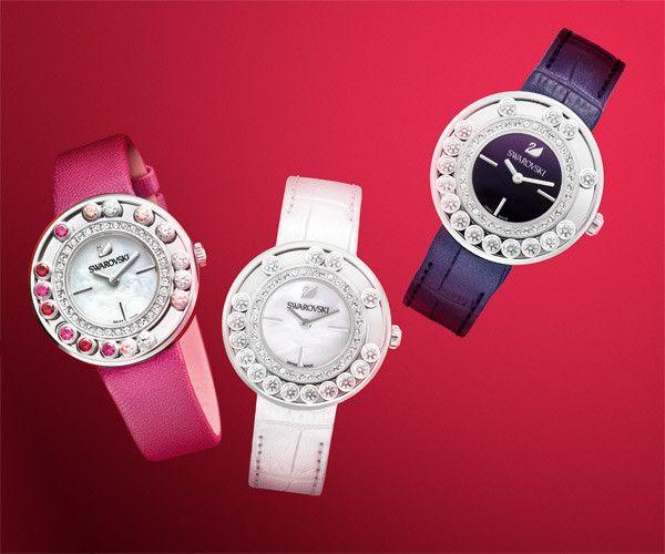 LOVE. Lovely Crystals Aubergine Watch from #Swarovski