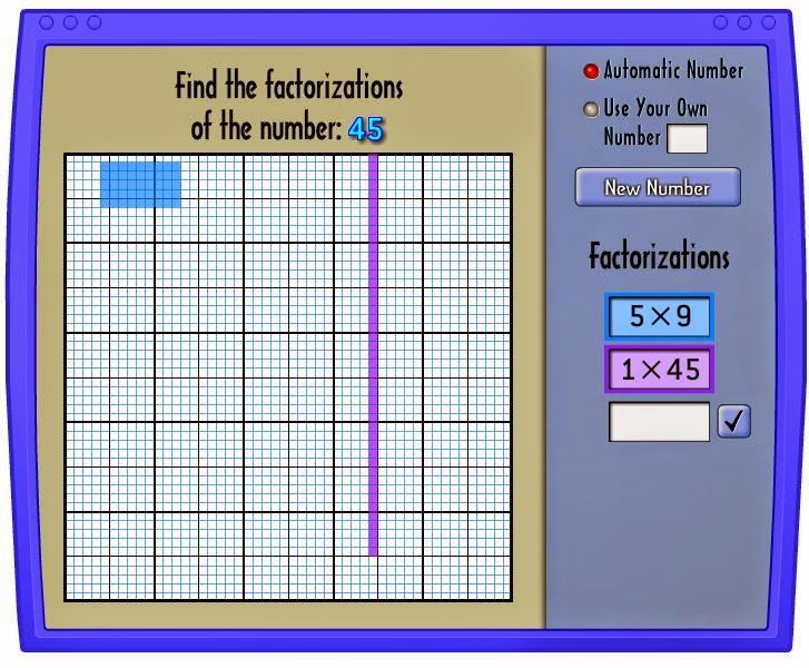 Here is an easy to use, free, online tool for finding factors.  Great for concep…