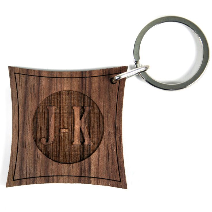 Personalised Contemporary Monogram Wooden Keyring - yourgifthouse
