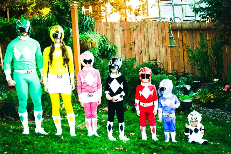 Homemade Power Ranger Costumes- even the Helmets are homemade!