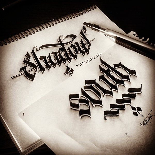 Some Shaded Lettering With Parallelpen Pencil Part 1 On