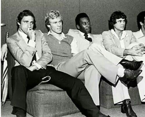 Pele colonised a table at Studio 54 with his squad of equally savvy gents behind him—including Italian forward Giorgio Chinaglia, German sweeper Franz Beckenbauer and English winger Dennis Tueart.