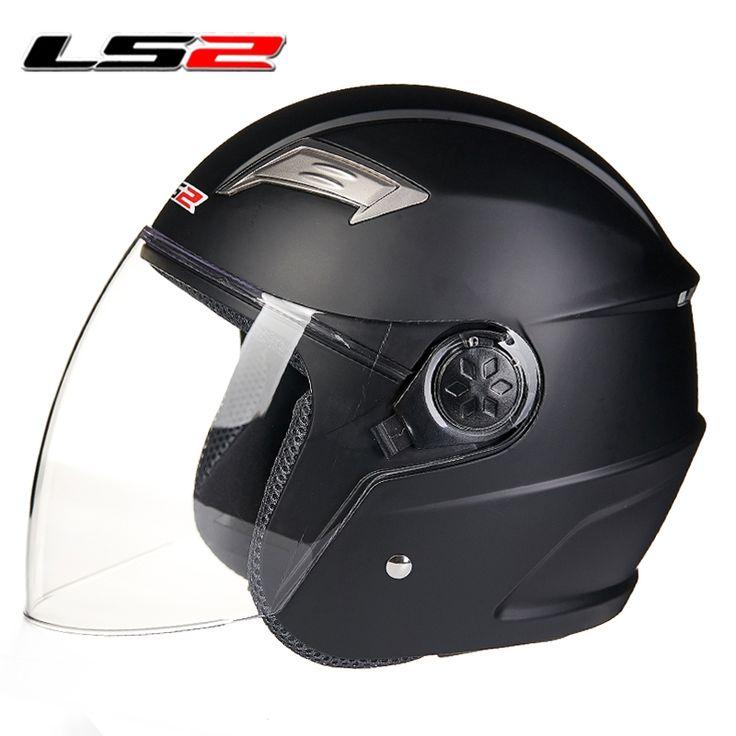 56.00$  Watch more here  - LS2 Big visor, Free shipping, Open face 3/4 motorcycle Casco Capacete helmet, Jet Vintage retro helmet, scooter helmet, ECE