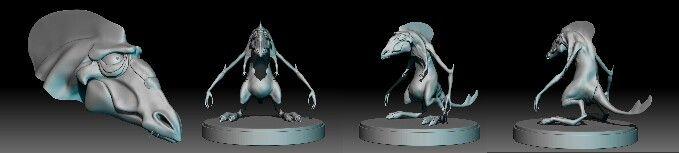ZBrush Merchant Alien Concept