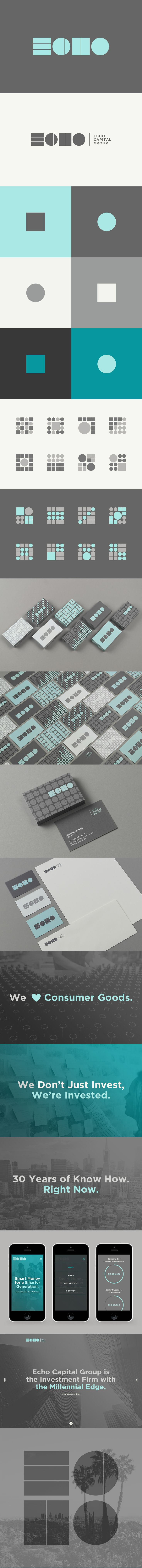 Brand Identity for Echo Capital Group, the Investment Firm with the Millennial Edge -- Logo, Icons, Animations, Responsive Website, Content Creation, Copywriting, MOO Cards -- http://echocapital.com