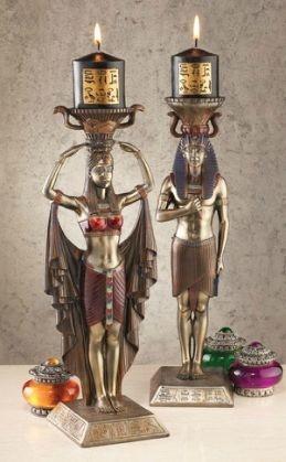 Egyptian God and Goddess candle holders