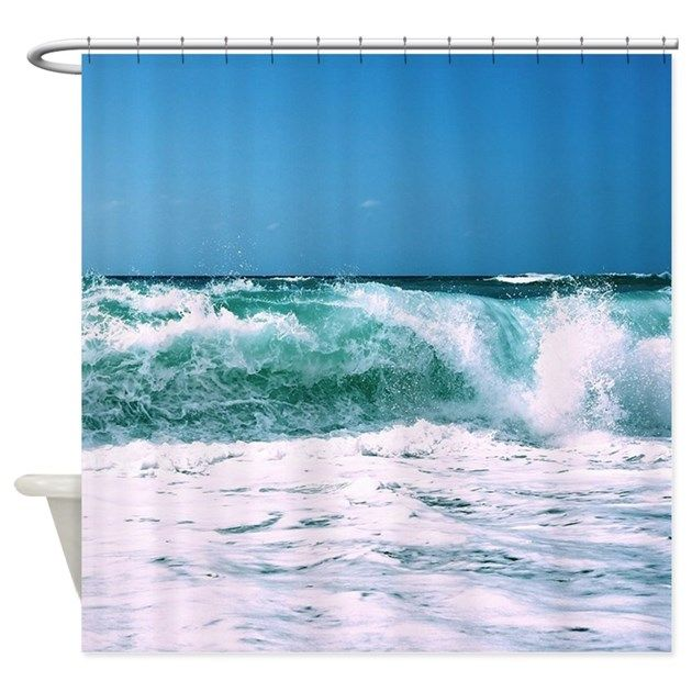 Waves Shower Curtain - sea, beach, sand