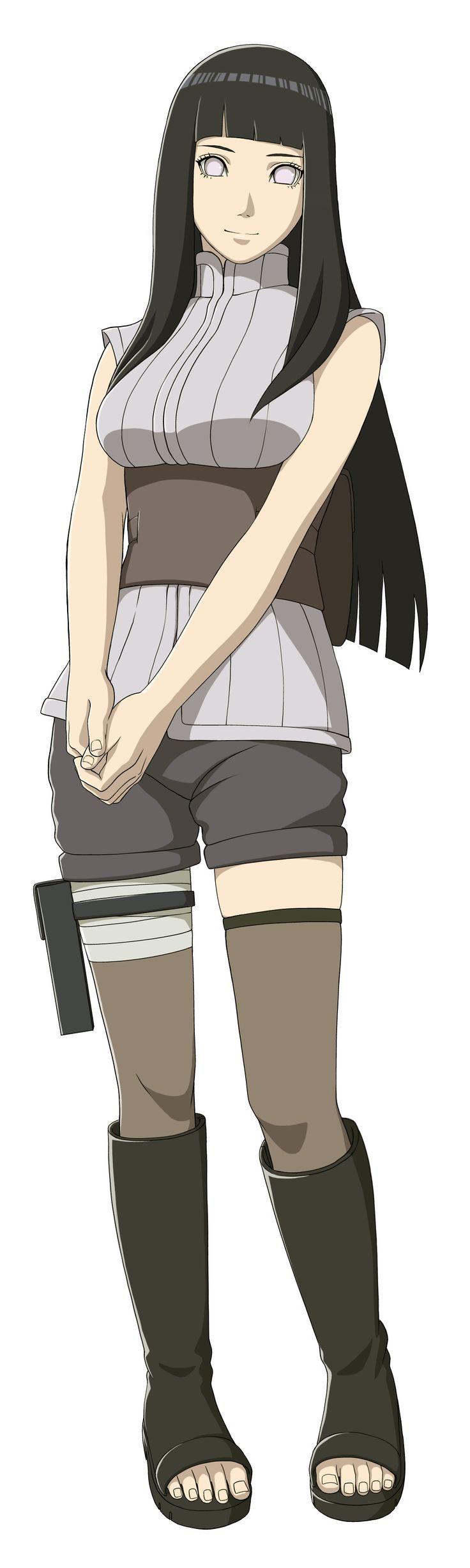 Tanto en el manga como en el anime, Hinata es una kunoichi de la Aldea Oculta de Konoha y forma parte del «Equipo 8», compuesto por Kiba Inuzuka, Shino Aburame y su líder y sensei, Kurenai Yūhi. Al final de la historia se convierte en la esposa de Naruto Uzumaki, siendo ahora Hinata Uzumaki, teniendo a sus hijos, Bolt Uzumaki y Himawari Uzumaki