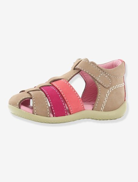 Sandales bébé fille Bigfly KICKERS® tricolore - Beige/fuchsia/orange - 5
