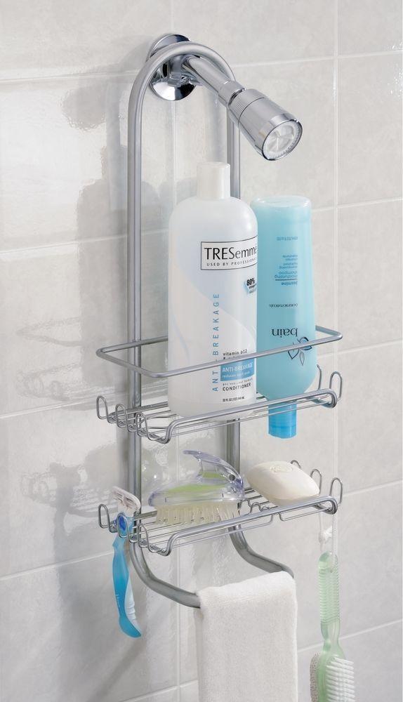 INTERDESIGN CLASSICO STRONG BATHROOM SHOWER CADDY ORGANISER STORAGE  SILVER TONE