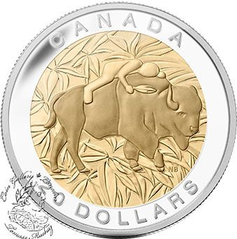 Canada: 2014 $20 The Seven Sacred Teachings: Respect Gold Plated Silver Coin - Coin Gallery London Store