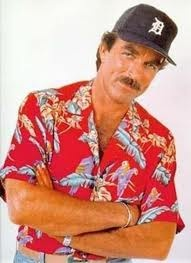 Tom Selleck - Magnum P.I. - classic in his Hawaiian shirt.  http://www.idealtravelalongtheway.com/2012/07/top-9-reasons-to-wear-your-hawaiian.html