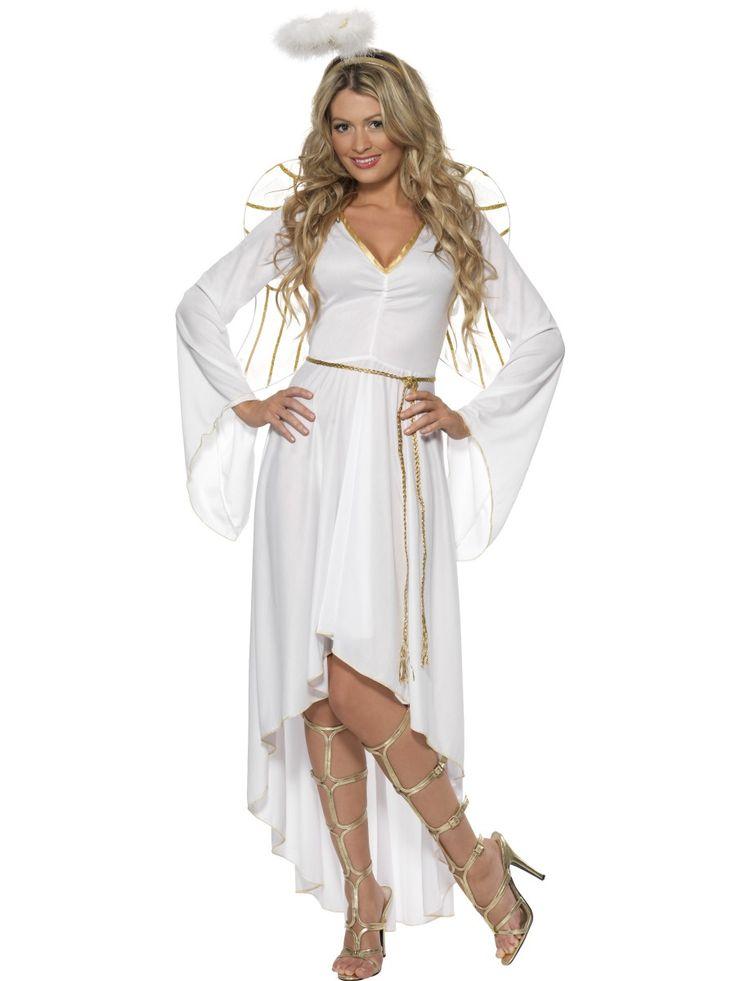 Elegáns angyal jelmez, mely tartalmazza az összes szükséges angyali kiegészítőt. Ajánljuk karácsonyi partikra, rendezvényekre, jelmezes bulikba, farsangra.