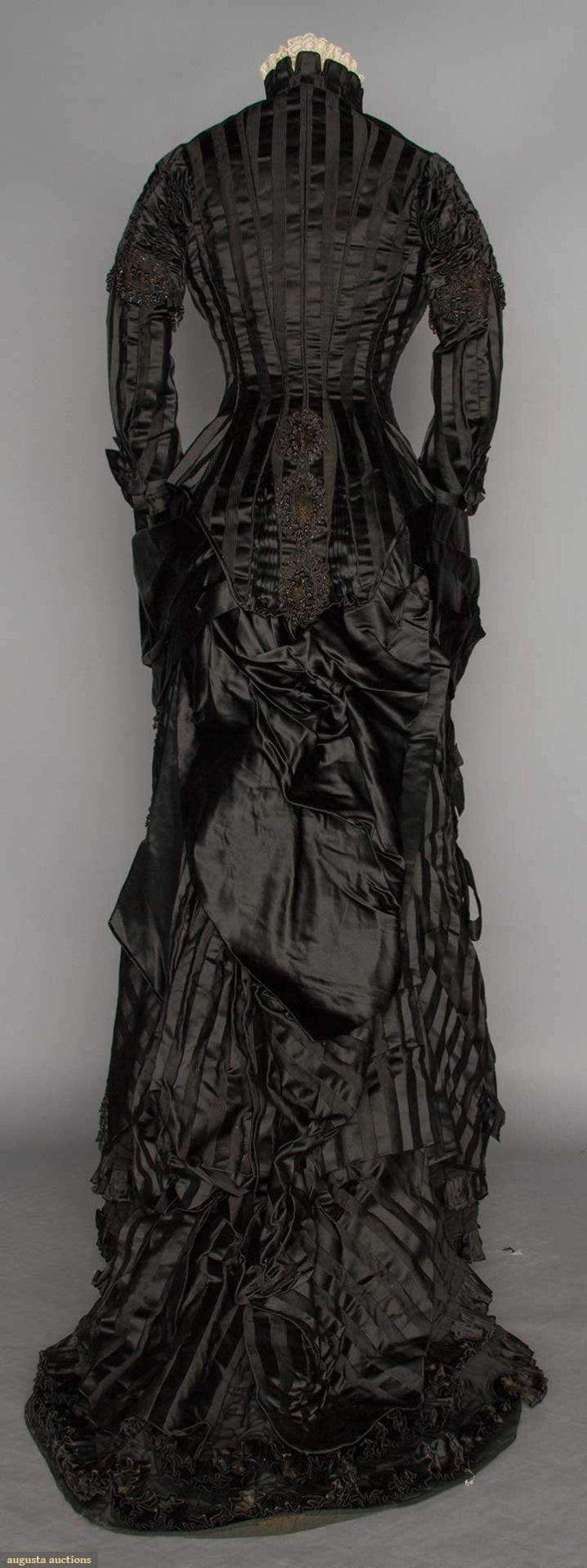 1870s Jet Beaded Mourning Dress.