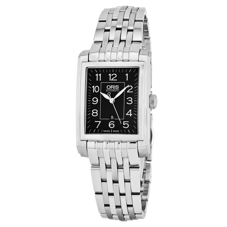 Oris Women's 561 7656 4034 MB 'Rectangular' Dial Swiss Automatic Watch